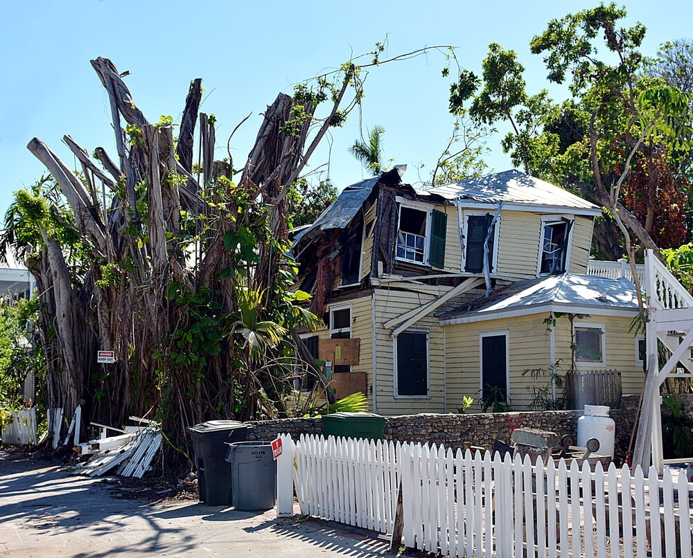 destroyed vacation rentals